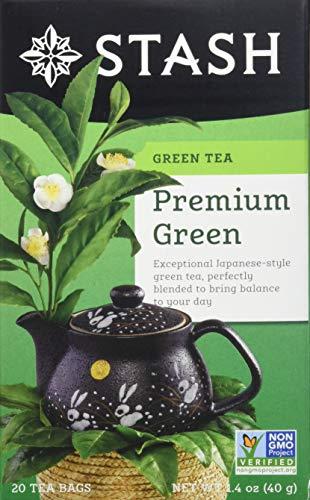 Stash Tea Premium Green Tea, 10 Count Tea Bags in Foil (Pack of 12)