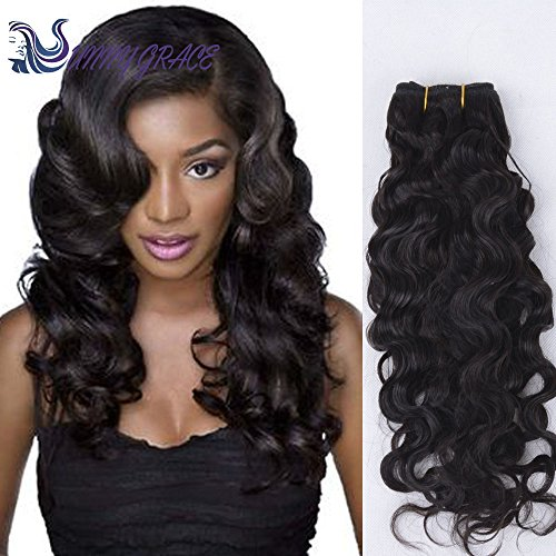 Sunny Grace 2-Bundles 100%Brazilian Virgin Human Hair Body Wave Hair Extensions Weft Weave Natural Color (12inch, Natural Color #1b)