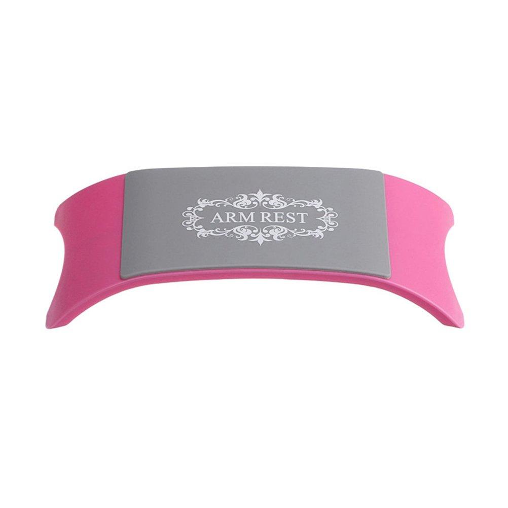 frcolor Silikon Handauflage Kissen für Nägel künstlerischen Ständer für Hände Handauflage Nail Art Maniküre Werkzeuge (Pink)