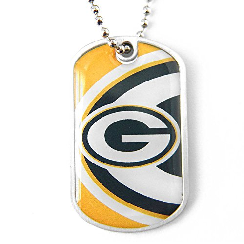 aminco NFL Green Bay Packers Dynamic Dog TagDynamic Dog Tag, Team Color, 4