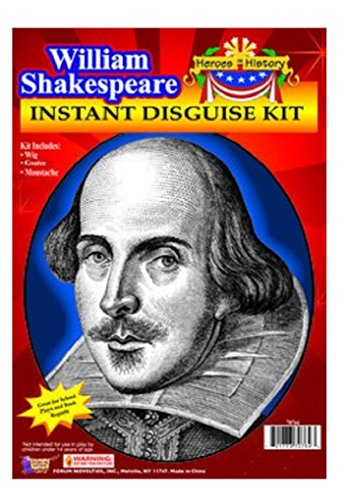 [Child Heroes in History Instant Disguise Kit - William Shakespeare - Wig, Moustache, and Goatee] (Women In History Costumes)