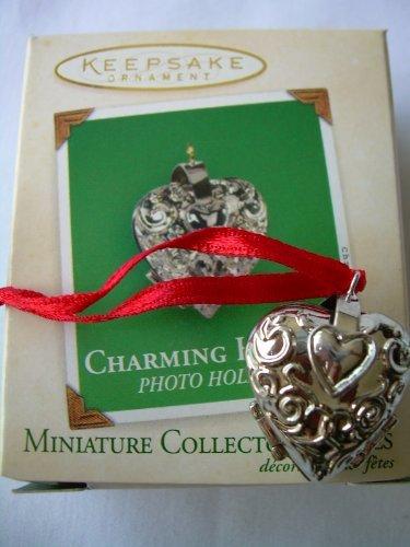 Heart Miniature Ornament - 2003 Hallmark Ornament Miniature Charming Hearts # 1 Series