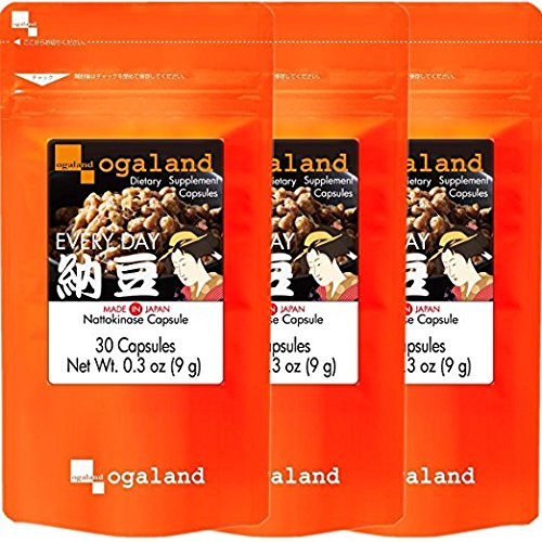 Cheap Nattokinase Supplements 30-Count ×3Bags $ 18 a Bag →$ 16 Natto kinase Health Supplement Enzyme Cuppsele (2,000 Fu) Made in Japan Ogaland