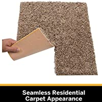"""1 Tile , Leather Sample Easy DIY Installation SMART SQUARES Piece of Cake 9/"""" x 9/"""" Ultra Premium Residential Soft Carpet Tile Peel and Stick Made in USA Seamless Appearance"""
