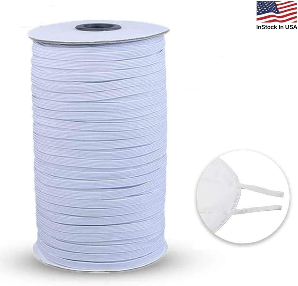 Amazon Com Elastic Bands For Sewing 100 Yard 1 4 Width Elastic