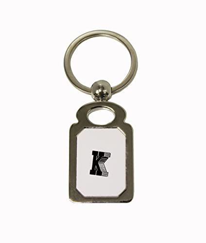 Amazon Com K Shadow Initial Monogram Letter K Silver Colored