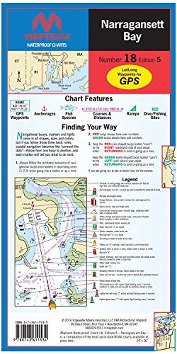 Bristol Bay Fishing - Narragansett Bay Waterproof Chart Number 18 Edition 5