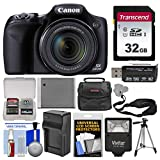 Canon PowerShot SX530 HS Wi-Fi Digital Camera with 32GB Card + Case + Flash + Battery & Charger + Tripod + Strap + Kit