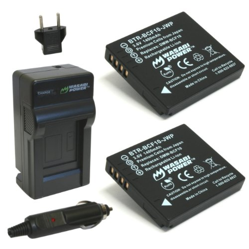 (2-Pack) and Charger for Panasonic Lumix DMW-BCF10, DMW-BCF10E, DMW-BCF10PP, CGA-S/106B, DMC-F2, DMC-F3, DMC-FH1, DMC-FH20, DMC-FH22, DMC-FH3, DMC-FT3, DMC-FT4, DMC-FX68, DMC-FX700, DMC-FX75, DMC-TS2, DMC-TS3, DMC-TS4 ()