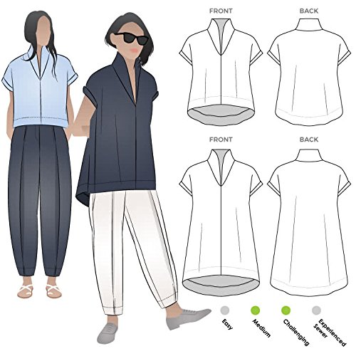 Style Arc Sewing Pattern - Teddy Designer Top (Sizes 04-16) - Click for Other Sizes -