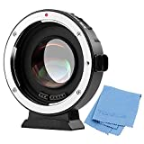 VILTROX EF-M2 Focal Reducer Booster Adapter Auto-Focus 0.71x for Canon EOS EF Lens to Micro Four Thirds (MTF, M4/3) Camera GH4 GH5 GF6 GF1 GX1 GX7 E-M5 E-M10 E-PL5,with USB Update Port