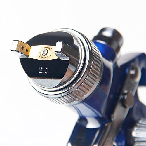 22142120 HVLP Niedrig Druck Farbpistole mit Luftregler 2mm
