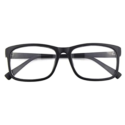 b937af561e Happy Store CN12 Casual Fashion Basic Square Frame Clear Lens Eye Glasses