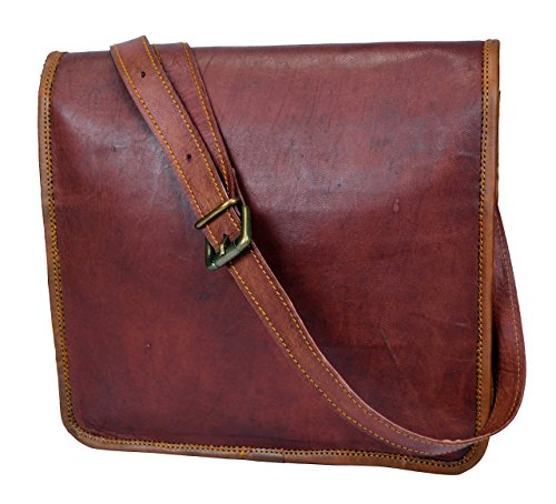 Sankalp Leather Handmade Genuine Vintage Messenger Bag Satchel Cross Body Shoulder Mini Laptop Bag, 9 x 11, NEW by Sankalp Leather & Creation