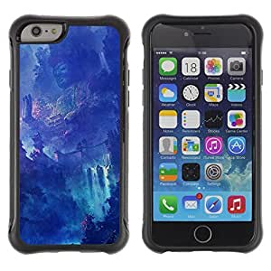 Hybrid Anti-Shock Defend Case for Apple iPhone 6 4.7 Inch / Fantasy Asian Waterfall Temple