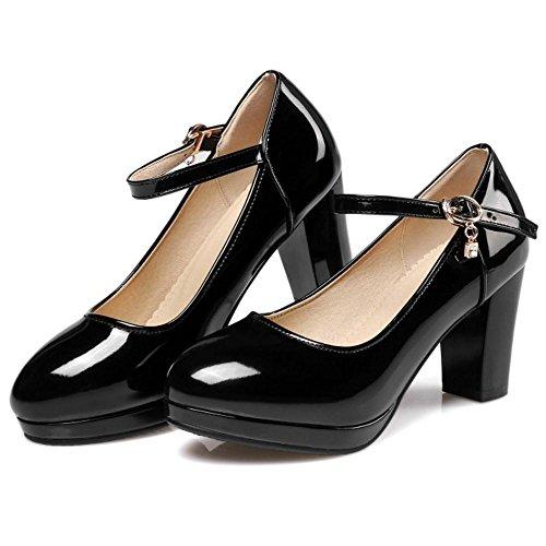Heel Black Thick Scarpe Jojonunu Donna Moda 0Hqwgaxw4