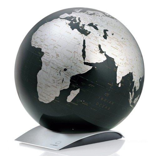 Globus CAPITAL-Q Ø 30 cm Weltkarte schwarz metallic