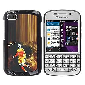 LauStart ( Ronaldo Soccer Star ) BlackBerry Q10 Arte & dise?o pl¨¢stico duro Fundas Cover Cubre Hard Case Cover para