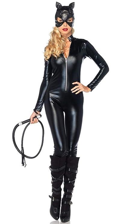 FHSIANN Oferta Disfraz Sexy Cuero de imitación Negro Catwoman Sexy ...