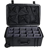 Seahorse Protective Equipment Cases SE920DOPL, BK Protective Case with Padded Dividers, Lid Organizer