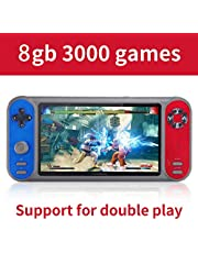 Mainstayae 7in 8GB Handheld Video Game Console Support GBA GBC GB SFC FC MD NES MAME format Games TF Card