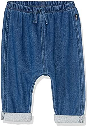 Bonds Baby Girls' Denim Terry Trackie Pants, Mid Blue Chambray, 0 (6-12 Months)
