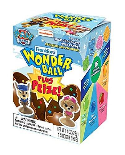 Milk Paws Chocolate - Paw Patrol Milk Chocolate Wonderball with Candy and Toy Surprise, 1 oz (1)