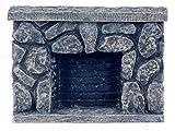 Dollhouse Miniature Rustic Fieldstone Fireplace