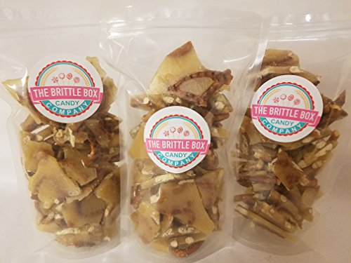 Pretzel Brittle Candy 1 Pound Crunchy Salty Pretzels Blended into our Buttery Brittle (Crunchy Peanut Brittle)