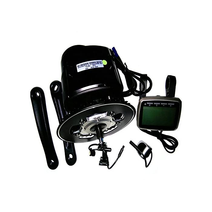 TSDZ2 Kit de motor de conversión central para bicicletas eléctricas eBike, con sensor de par de 36V, 350W, cadena de 42 dientes