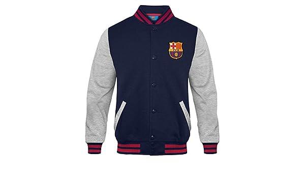 5bfdd3b5afecd FC Barcelona - Chaqueta deportiva oficial para niño - Estilo béisbol  americano  Amazon.es