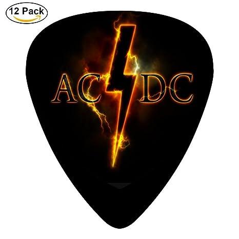 Púas de guitarra AC Flash DC personalizadas de celuloide, 12 ...