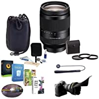 Sony FE 24-240mm F3.5-6.3 OSS E-Mount NEX Camera Lens Bundle with 72mm Filters & Pro Software