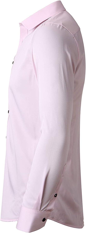 FLY HAWK Mens Dress Shirts Slim Fit Long Sleeve Bamboo Button Down Men Shirt