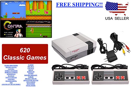 Mini Retro Classic Game Consoles Built-in 600 Childhood Classic TV Video Games Dual Control 8-Bit Console Handheld Game Player - Kid Nintendo Nes Game