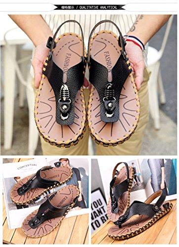 De Cuero De Verano LXXAMens Usos Correa Flip Black Hombre Zapatilla Peso Playa Ligero Correas Dos Real Zapatos Sandalias La Flops zFq6zBw8