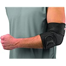 Mueller Adjustable Elbow Support, Black, One Size Fits Most (Packaging May...