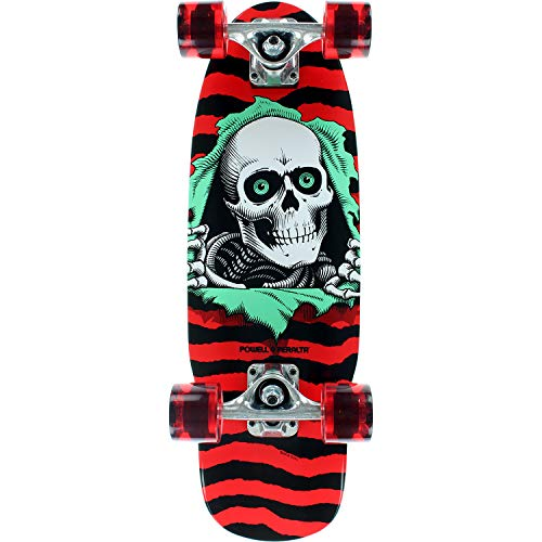 Powell-Peralta Ripper Red Mid Complete Skateboards - 7.5
