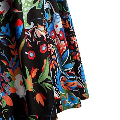 Femmes Taille Élégant Robe Slim Sans Noir Grande Au Col Soirée Genou Jupe Xl Hepburn Balançoire Impression Manches Adeshop Gilet 5xl Vintage Rond Chic À De xIdtqwIC