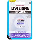 Listerine Healthy White, Interdental Floss with Baking Soda, Oral Care and Hygiene, Mint, 30 Yards, Pack of 6