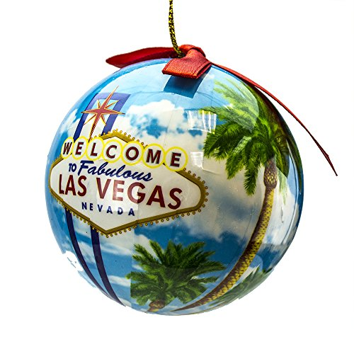 Rockin Gear Christmas Ornament Hanging Ball Las Vegas Gift 'Welcome to Fabulous Las Vegas Nevada' Decorative Ornament and Gift