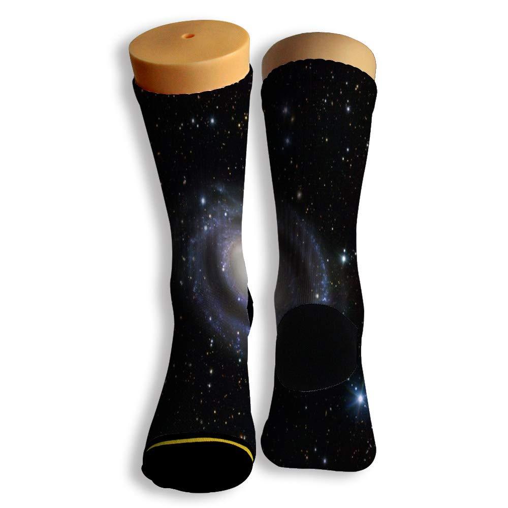 Basketball Soccer Baseball Socks by Potooy Colorful Galaxy Graffiti 3D Print Cushion Athletic Crew Socks for Men Women