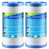 Icepure 5 Micron 10' x 4.5' Whole House Big Blue Sediment and Activated Carbon Water Filter...