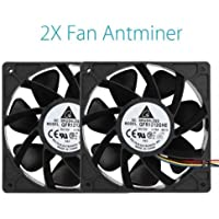 MiniEsting(TM) Cooling Fans Replacement 2 x 6000RPM 4 Pin Connector For Antminer Bitmain S7 S9