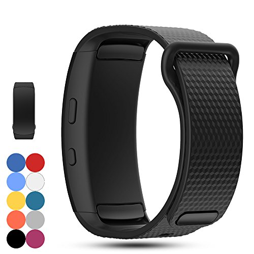 Feskio Samsung Gear Fit 2 Pro/Fit 2 SM-R360 Replacement Watch Band Strap Accessory Soft Silicone Wristband Strap Sport Band Bracelet for Samsung Gear Fit 2 Pro/SM-R360 - Fit Replacement