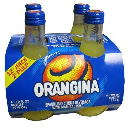 (Orangina Sparkling Citrus Beverage with Pulp (4 PACK) Bottles )