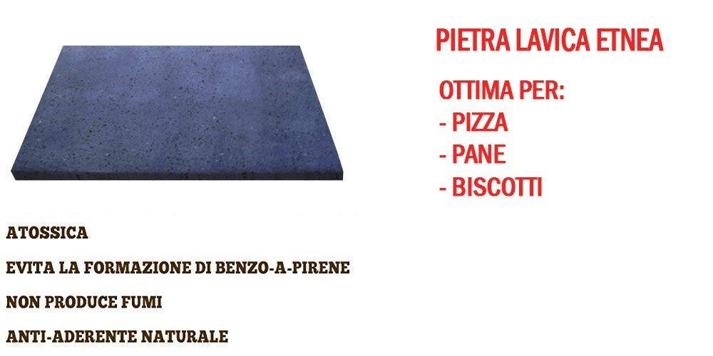 PIZZA NATURAL STONE - PIETRA LAVICA DELL'ETNA - MADE IN ITALY SICILY