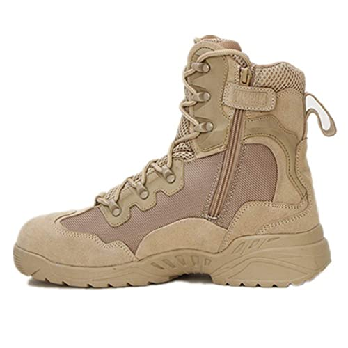 63ce80da02a ESDY Leather Tactical Desert Combat Military Boots Mens US Army Shoes