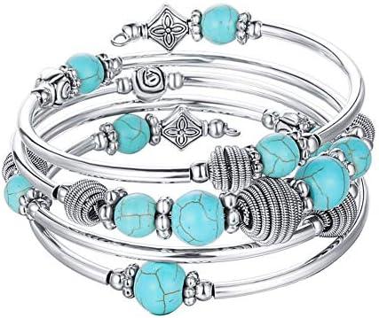 Beaded Chakra Bangle Turquoise Bracelet product image