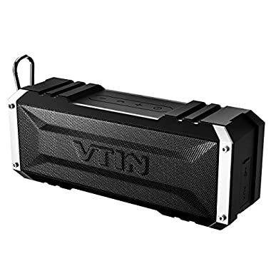 Vtin 20 Watt Waterproof Bluetooth Speaker, 25 Hours Playtime Portable Outdoor Bluetooth Speaker, Wireless Speaker for iPhone, Shower, Pool, Beach, Car, Home